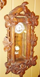 Rare miniature carved Black Forest regulator clock
